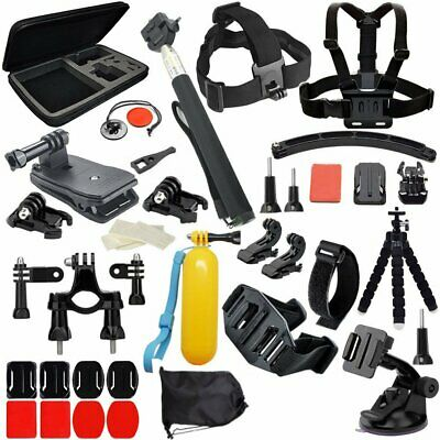 50 Action Camera Accessories Set For GoPro Hero 5 4 Video Cam Strap Mount Tripod