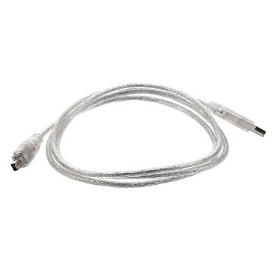 1X(USB 2.0 to IEEE 1394 Firewire 4 Pin 4 feet Extension Cable for Digital C T2D0