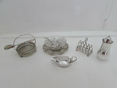 Collection Antique & Vintage Silver Plate & Cut Glass Items Eric Clements Sugar