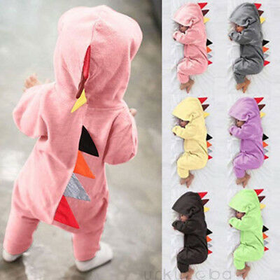 Toddler Newborn Baby Boy Girls Dinosaur Romper Jumpsuit Sleepwear  Pajamas Suit