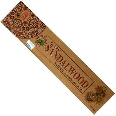 Incense Sticks Relaxation Fragrance Odors Goloka Sandalwood 15gsm
