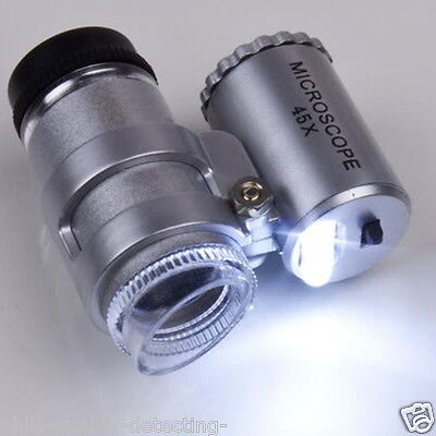 Metal Detecting Finds, Microscope 45 x Magnification, Great For Hammered Coins