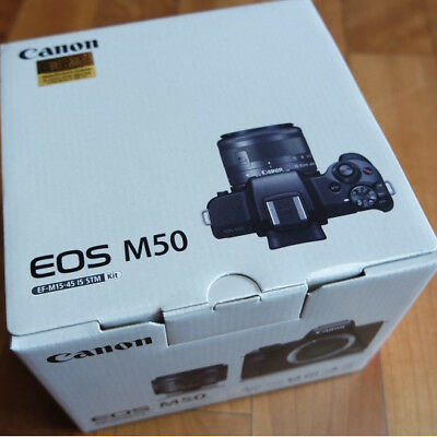 Canon EOS M50 Digital Camera With 15-45mm IS STM Lens Black _