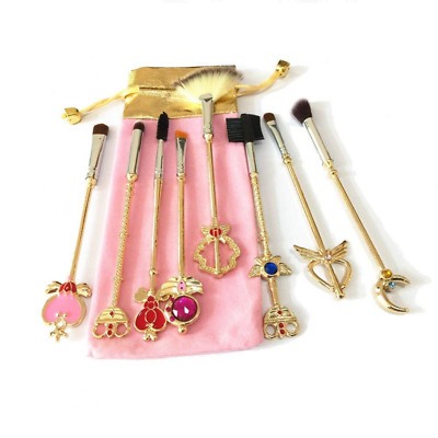 Dilla Beauty 8 Pcs/lot Sailor Moon Pinceaux de Maquillage Set Or Métal Poudre Co