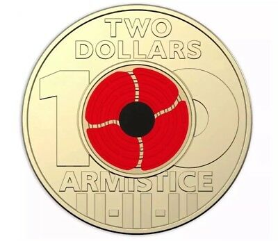 2018 $2 Australian Remembrance Day Uncirculated from RAM bag