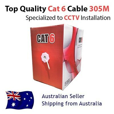 High Quality cat6 Cat 6 Ethernet cable 305m Box for Dahua, Hikvision CCTV Camera