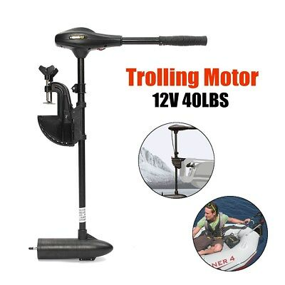 12V 40LBS Electric Trolling Motor Inflatable Boat Fishing Marine Outboard Engine