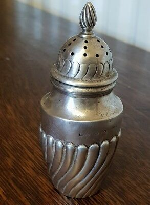 antique silver hallmarked birmingham 1891 pepperette pepper pot