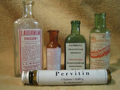 Old Medicine Bottle Hand Crafted