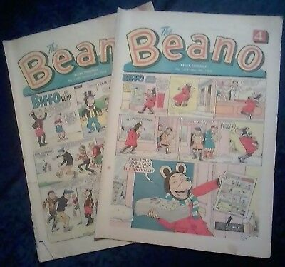 1968 Beano Comics - issue numbers 1329 & 1377