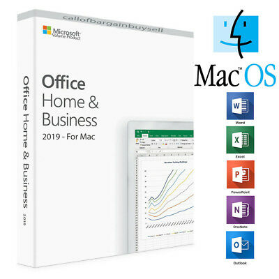 Microsoft Office Home and Business 2019 - For Mac,Multi Users, Lifetime Product