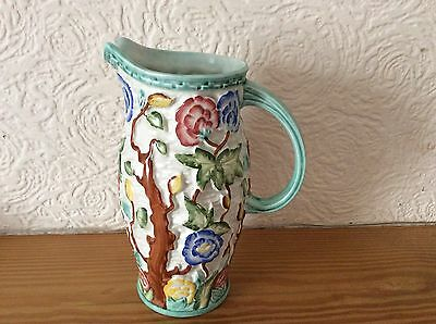 "H.J Wood ""Indian Tree"" 579 Hand Painted Jug With Handle"