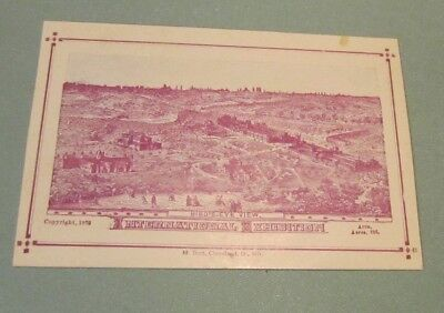 1876 Philadelphia International Exhibition Bird's-Eye View M. Burt Souvenir Card