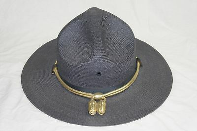 Stratton Self Forming State Police Ranger Trooper Gray Hat Size 7-1/4 Usa