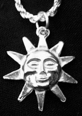 LOOK Celtic Sterling Silver Pendant Charm Belenos Sun God