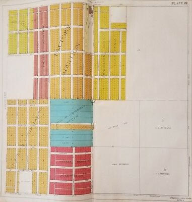 1917 Rockford IL Atlas Factory Addition on 11th St Plate Tissandier Survey Map