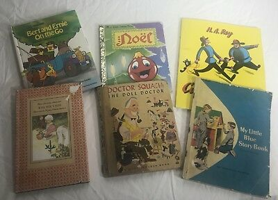 Children's Books Lot Of 6 My Little Blue Story Book and Other Vintage Books    4
