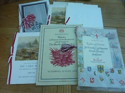 1950s 1960s COLLECTION ORIGINAL LONDON LORD MAYOR MENUS X 6