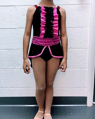Tap/Jazz Dance Costume Lot Of 9 Pink & Black Childrens Sizes