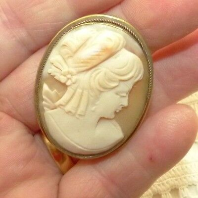 Jewellery Beautiful Very Vintage Shell Cameo Brooch 81A