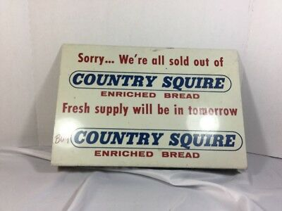 Vintage Country Squire Bread Shelf Sign Shelf Lining Display Sign Dated 1966