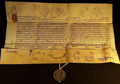 POPE BENEDICT XIII BULLA with LEAD SEAL - 1725 Bolla Papale Papst Bulle Papa