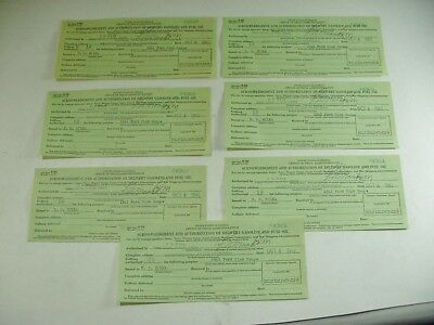 Wwii 1943 Gas Ration Cards Lieut Comdr. F. N. Maas Usnr For 1941 Ford Coupe R544