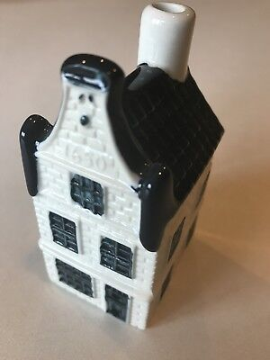 Vintage Collectible KLM Airlines Blue Delft House No. 16.  Empty Due to Customs.