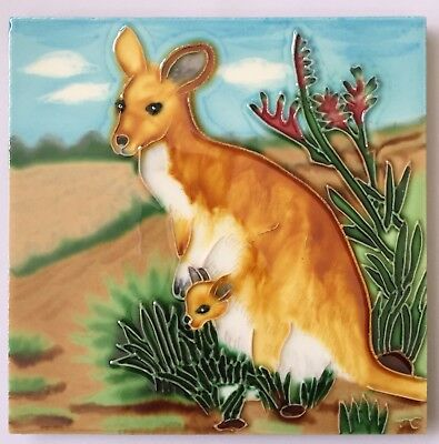 """Art On Tiles"" - Mum Kangaroo with Joey"