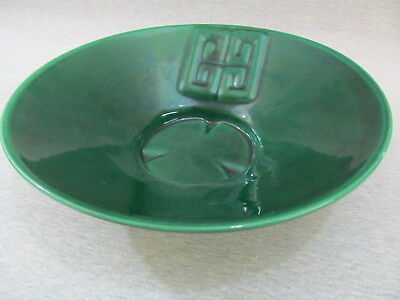 Vintage Green Bowl Claire Lerner California Pottery Roselane Pottery About 1950