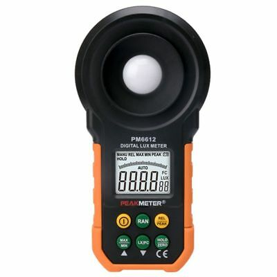 1X(PEAKMETER PM6612 Digital Meter 200,000 Lux Light Meter Test Spectra Auto P0D4