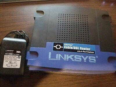Linksys BEFSR41 Cable/DSL Router w/4-Port switch v4