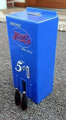 "RARE 1950s PEPSI-COLA TOY ""VENDING MACHINE"" BANK....COOL!"