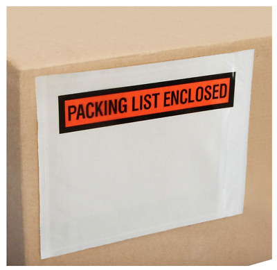 "SUPREME-SEAL Packing List Envelopes 4.5"" x 5.5"" Enclosed Pouches"