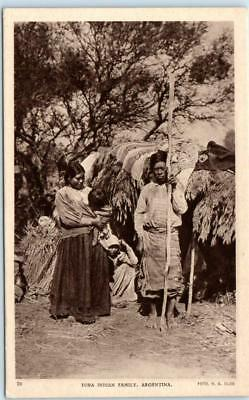 ARGENTINA  Native TOBA INDIAN FAMILY  Breastfeeding Mother  ca 1910s   Postcard