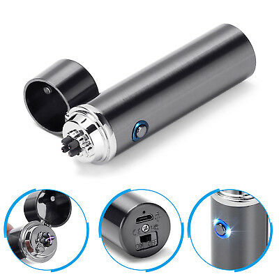 Electric Triple Plasma Arc Lighter Windproof USB Rechargeable for Cigarettes