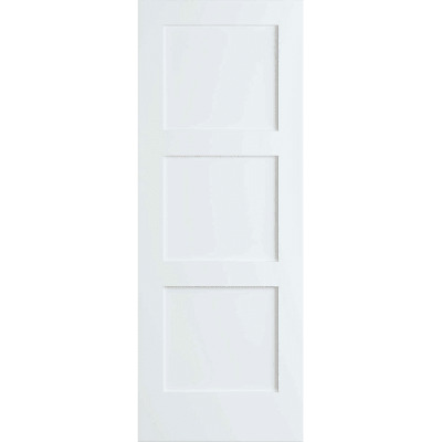 Frameport SHK-PD-F3P-6-2/3X2-1/3 Shaker 28 Inch by 80 Inch Flat 3 Panel Interior