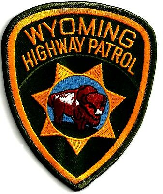 Wyoming Highway Patrol - Shoulder - Iron On Patch