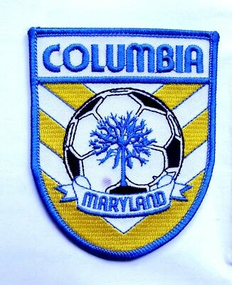 """Columbia, Maryland Soccer Souvenir 3/3/4"""" Cloth Patch - Free Shipping"""