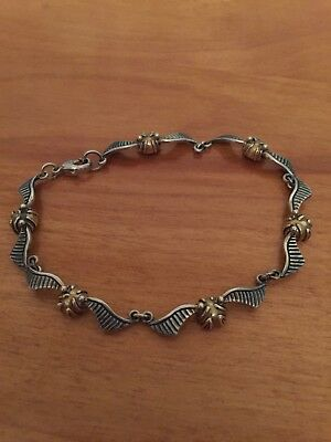 Noble Collection Harry Potter Quidditch Snitch Bracelet Sterling Silver 24K Gold