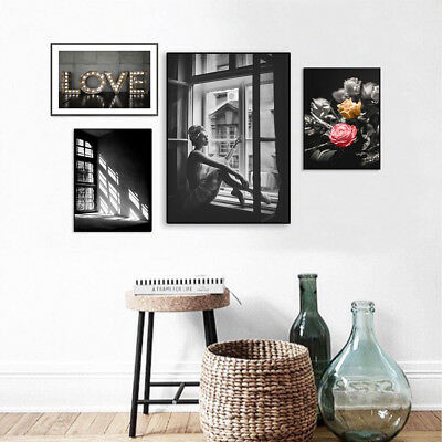 Black White Abstract Art Canvas Poster Fashion Print Nordic Style Home Decor