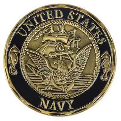 Navy Crossing The Line Shellback Neptune Challenge Coin 40Mm