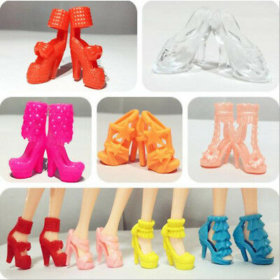 Party Dress Outfits Clothe Daily Wear Dance Shoes For Barbie Doll 10 Pair