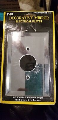 Telephone Receptacle cover Mirror vintage electrical plate One Hole Two Screws