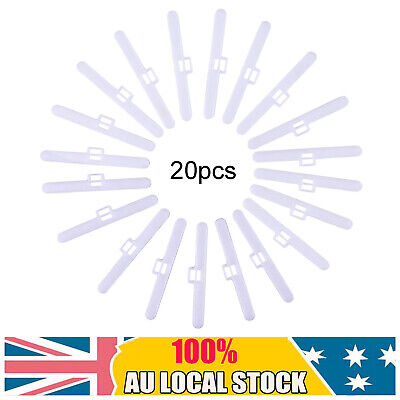 20X Vertical Blind Clips Top Hangers To Fit 3.5in/89mm Slats Double Slot Type AU