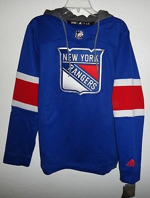 official photos 16881 94bd9 ADIDAS NEW YORK Rangers Jersey Pullover Hoodie Size M Mens ...