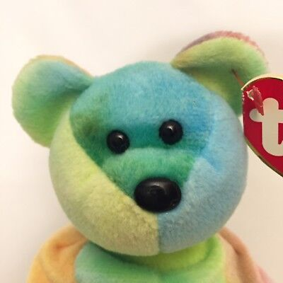 Ty Beanie Baby Babies #4053 Peace Bear Retired Stuffed Plush Toy ***see photos