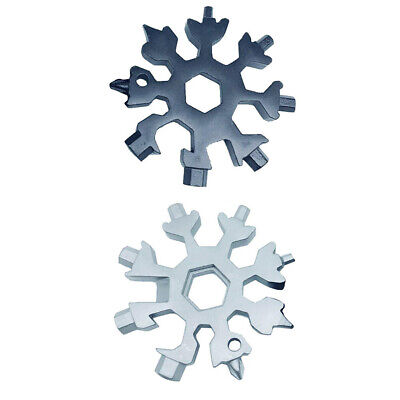 18-in-1 Multi-tool Combination Compact Portable Outdoor Snowflake Tool Card Eyef