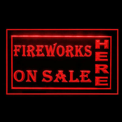 200005 Fireworks On Sale Here Explosion Evening Display Evening LED Light Signs