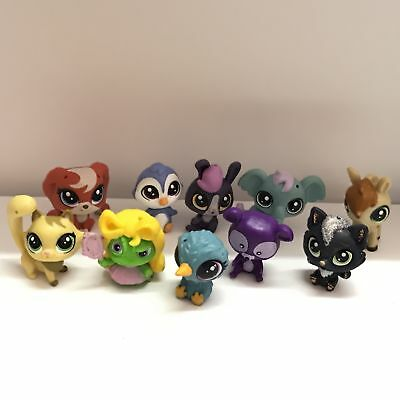 "Lot10PCS Littlest Pet Shop 1.0""LPS  Bird Horse Dog Animals Mini Figure Toys Gift"